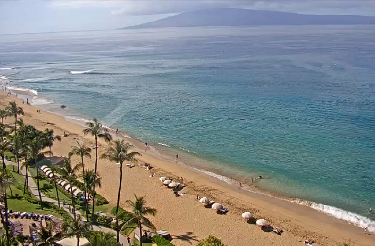 Пляж Каанапали из отеля Westin Maui Resort & Spa на острове Мауи